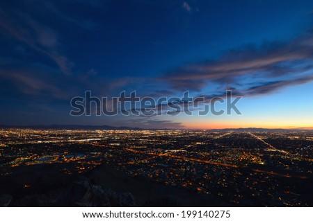 Phoenix city lights at dusk #199140275