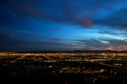 Phoenix city lights at dusk (high contrast version)