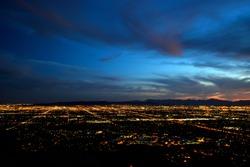 Phoenix city lights at dusk (high contrast version)