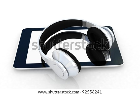 phone and headphones