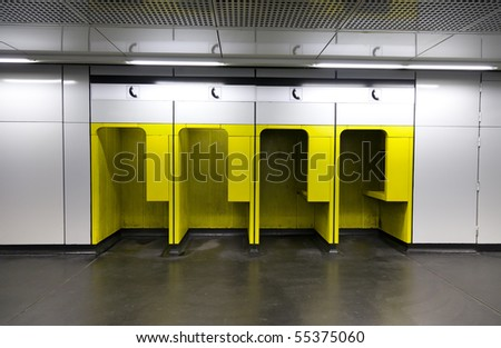 phone booths in the subway