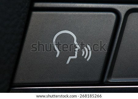 phone button in the car, car interior details #268185266
