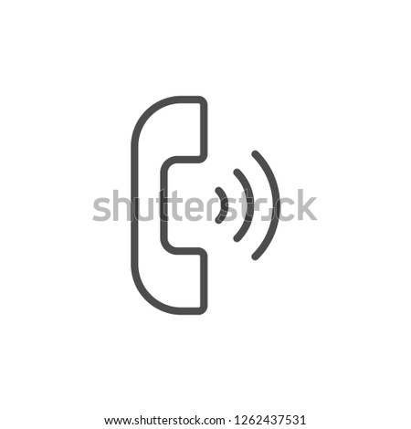 Phone call line icon isolated on white