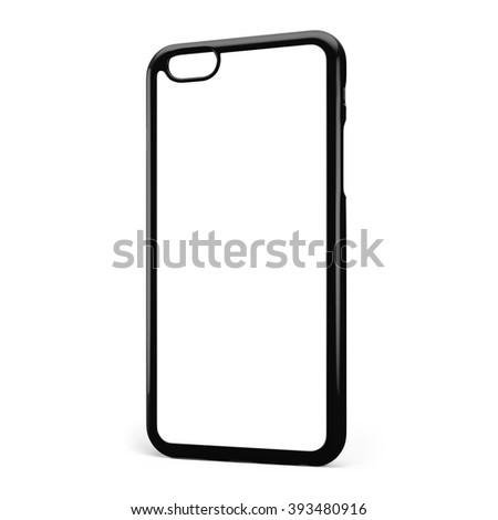 Phone case on white background