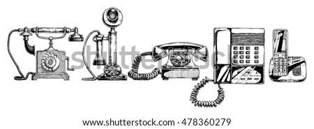 phone evolution set.typical...