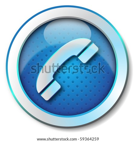 Phone icon - stock photo