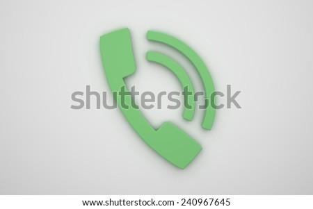 Phone icon 3D #240967645