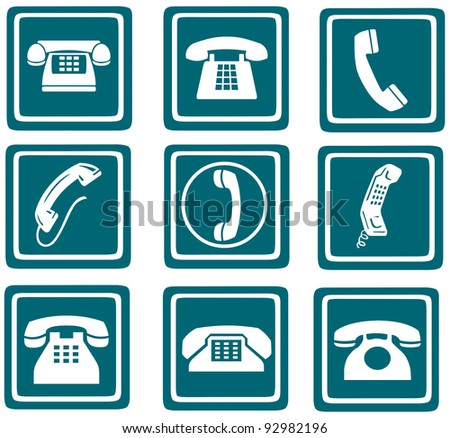 phone icons, signs, illustrations set. telephone icons collection.