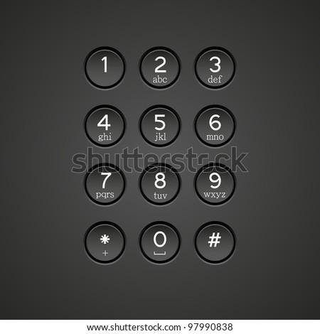 phone keypad background