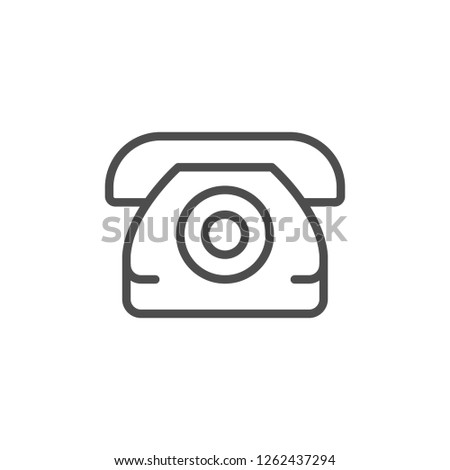 Phone line icon isolated on white