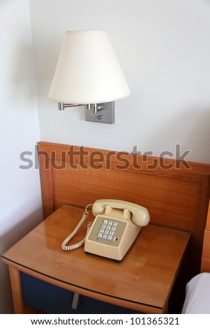 phone on the bedside table in the bedroom