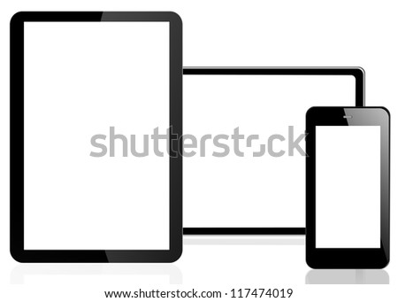 phone on white background
