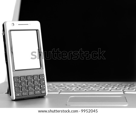 phone over a laptop