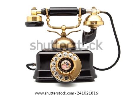 phone retro with golden parts #241021816