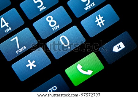 Phone Touchscreen Keypad - stock photo