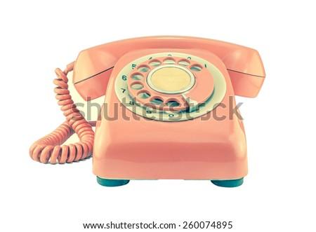 phone vintage on white...