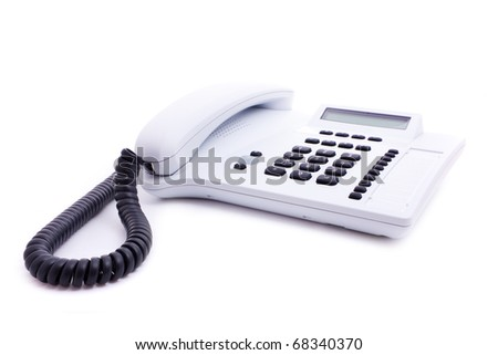 phone with grey buttons isolated on white