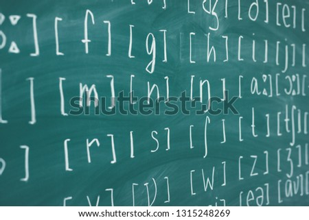 Phonetic and phonemic transcription of any language English class lesson learn.