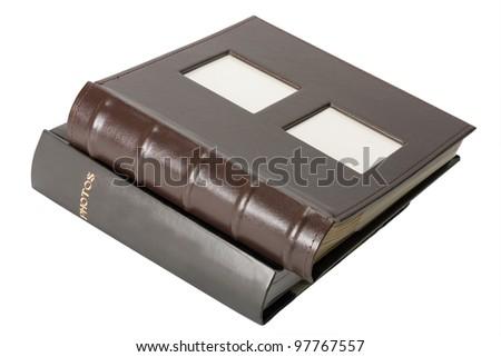 photo albums isolated on white background