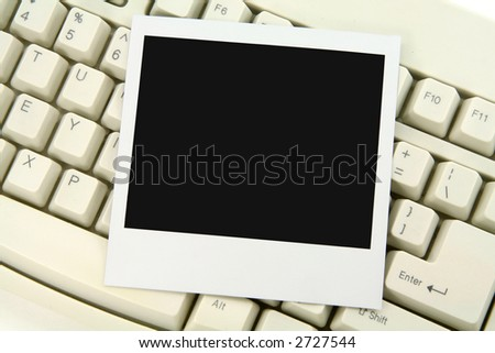 photo and keyboard,communication concept