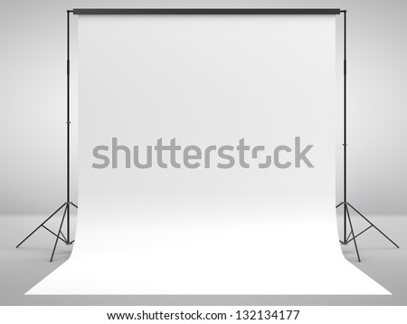 photo background in white room