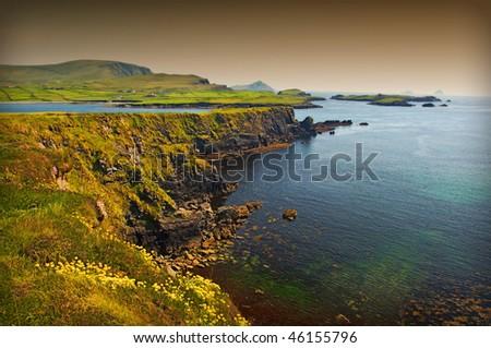photo beautiful breathtaking vibrant  irish scenic coastal seascape