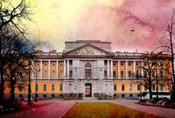 Photo beautiful Mikhailovsky Castle in St. Petersburg