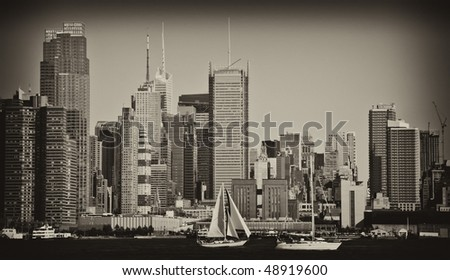 photo beautiful new york cityscape over the hudson