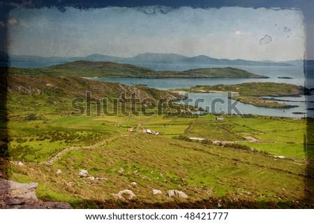 photo beautiful scenic vibrant landscape and seacape west ireland