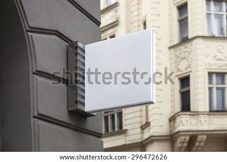 Photo blank signboard on the street #296472626