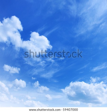 Photo:  Blue sky and white clouds.