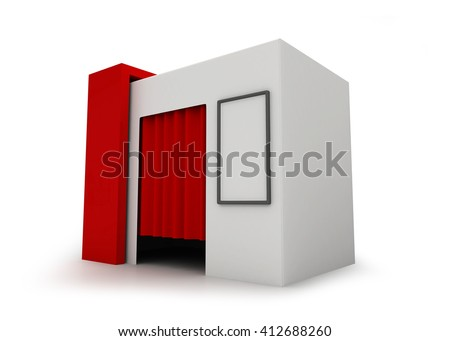 Shutterstock Photo Booth - 3D rendering