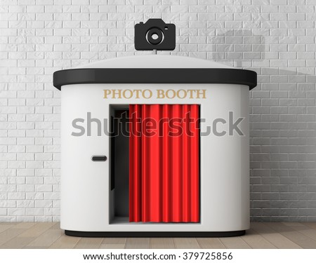 Shutterstock Photo Booth in front of brick wall