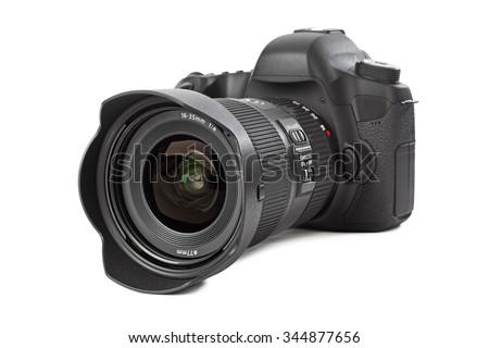 Photo camera isolated on white background #344877656