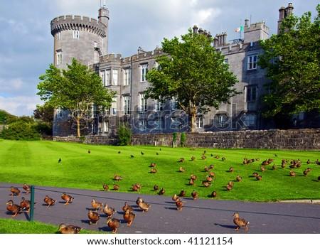photo capture of vibrant irish dromoland castle in county clare