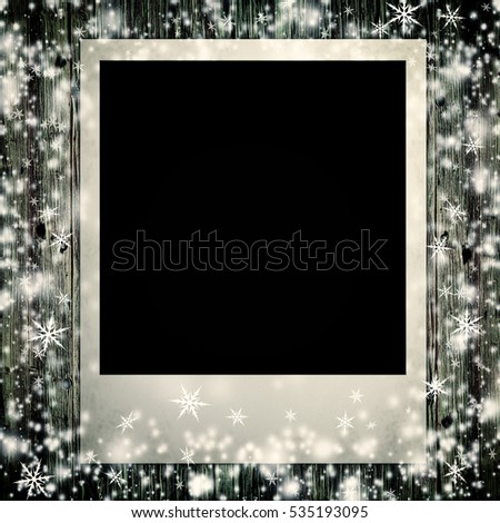 photo card  isolated on the christmas backgrounds