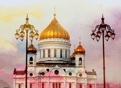 Photo Cathedral of Christ the Savior in Moscow