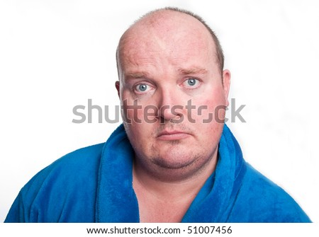 photo close up portrait capture of overweight male
