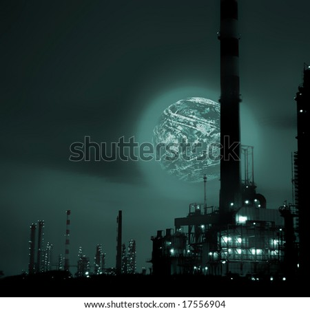 Photo composition in a refinery environment.