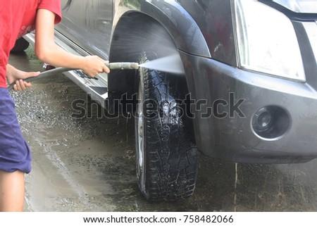 Photo for washing car   #758482066