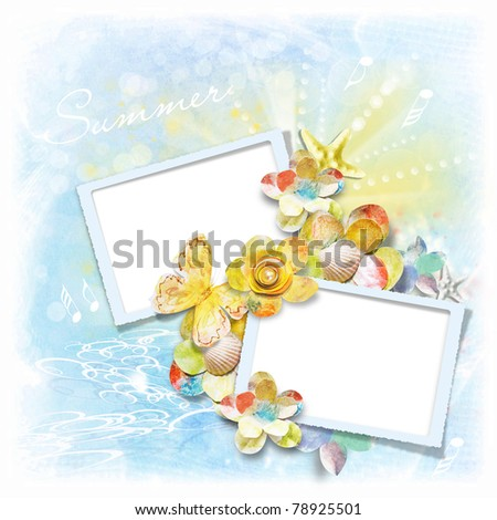 Photo frame for summer photos
