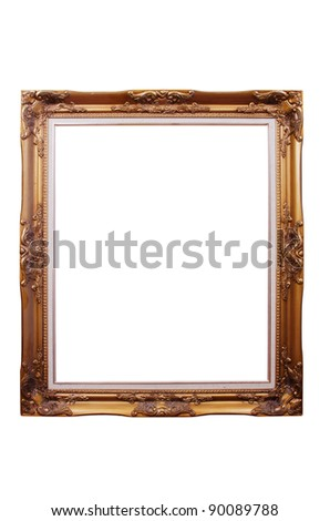 Photo frame isolated.