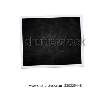 Photo frame isolated. Black background. Vintage photo #330325448