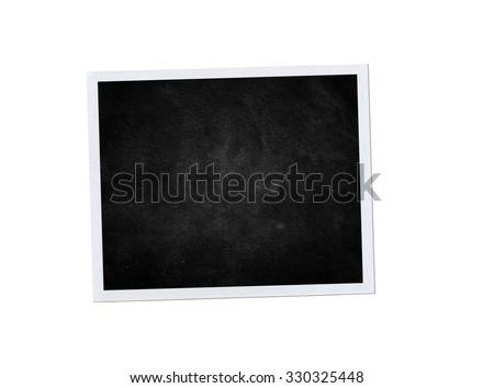 Photo frame isolated. Black background. Vintage photo