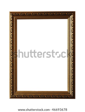 Photo frame isolated on the white. Including clipping path #46693678