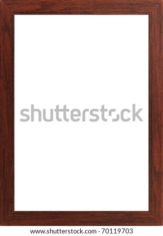 photo frame isolated on white background