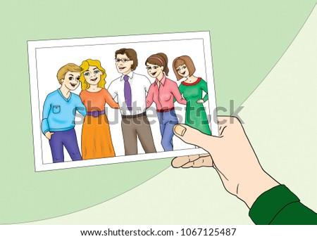 photo frame of a happy family...