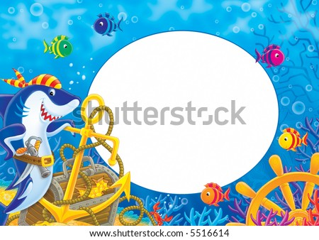 "photo-frame ""pirate shark"""