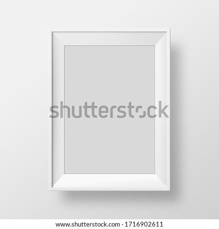 Photo frame portrait in white background