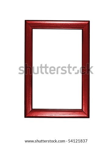 photo frame red over white background